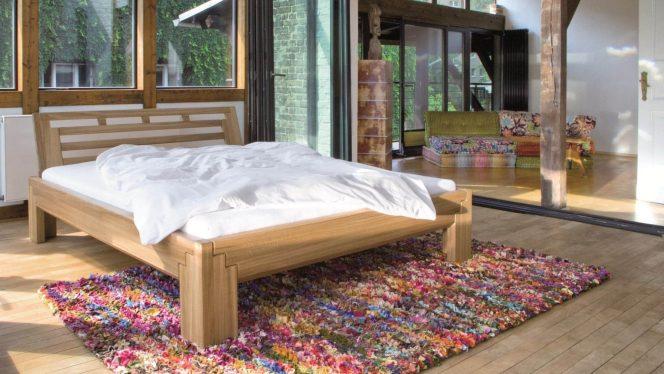 Massivholzbett Batu XL 3 Treppen Ausstellungsstück