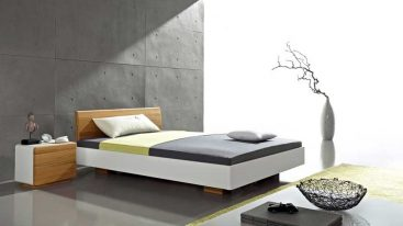 Massivholzbett Basal – 160 x 200 cm – weiß