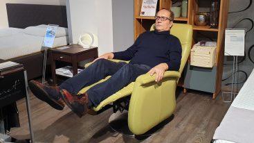 Leder Relax Sessel Amsterdam – elektrisch verstellbar