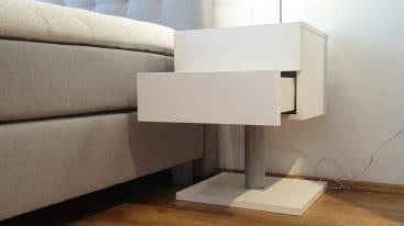 Nachttisch Boxdream weiß 40x45x60 cm