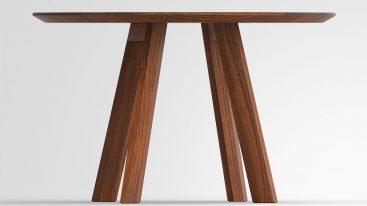 Tisch Rhombi Rund amerikanischer Nussbaum 120cm