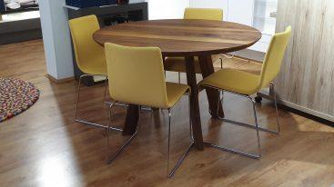 Tisch Rhombi Rund amerk Nussbaum 120cm 3