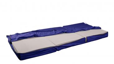 Matratzenbezug für Klappmatratze TRAVEL blau von shogazi ®