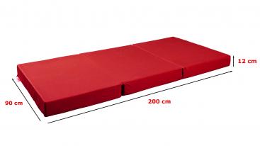 Matratzenbezug für Klappmatratze TRAVEL rot von shogazi ®